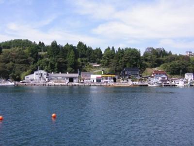 震災前の小鯖の港